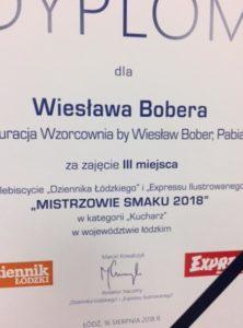 Szef Kuchni Wiesław Bober_osiągnięcia